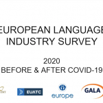 Webinar to present results of 2020 European Language Industry survey including impact of COVID-19